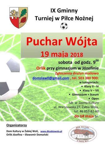 Turniej o Puchar Wójta _ 19.05.2018