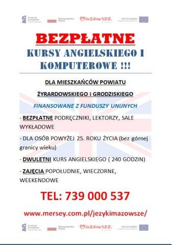 plakat_ kursy angielskieo i komputerowe